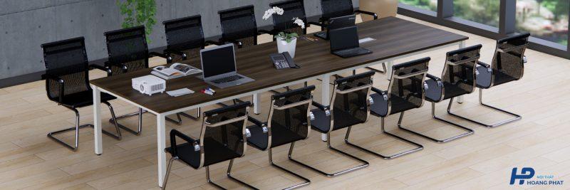 Bàn chân sắt mặt gỗ công nghiệp đẹp cho văn phòng